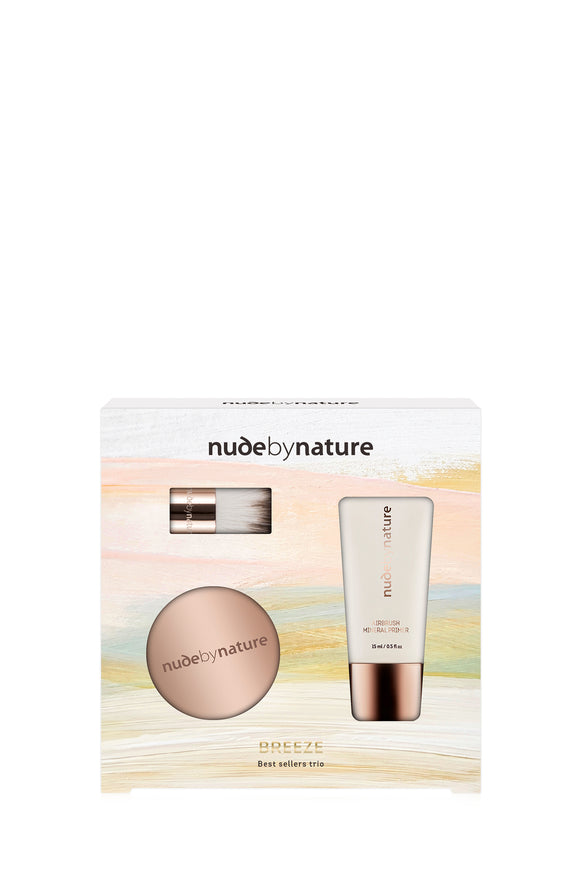 NEW! Nude By Nature 100% Natural Breeze Best Sellers Trio
