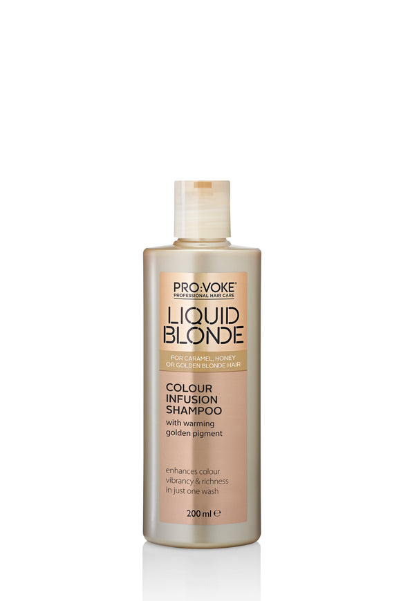 PRO:VOKE Liquid Blonde Colour Infusion Shampoo 200ml - USE ME ONCE A WEEK