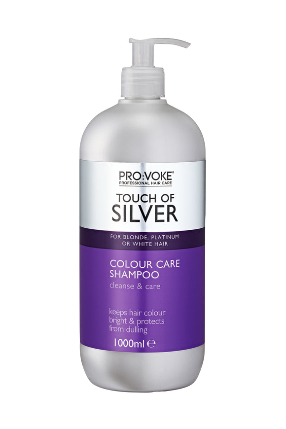 Provoke Touch of Silver Colour Care Shampoo 1 Litre (USE ME DAILY)