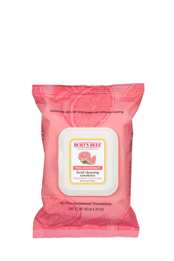 Burt's Bees Pink Grapefruit Facial Cleansing Towelettes (30)
