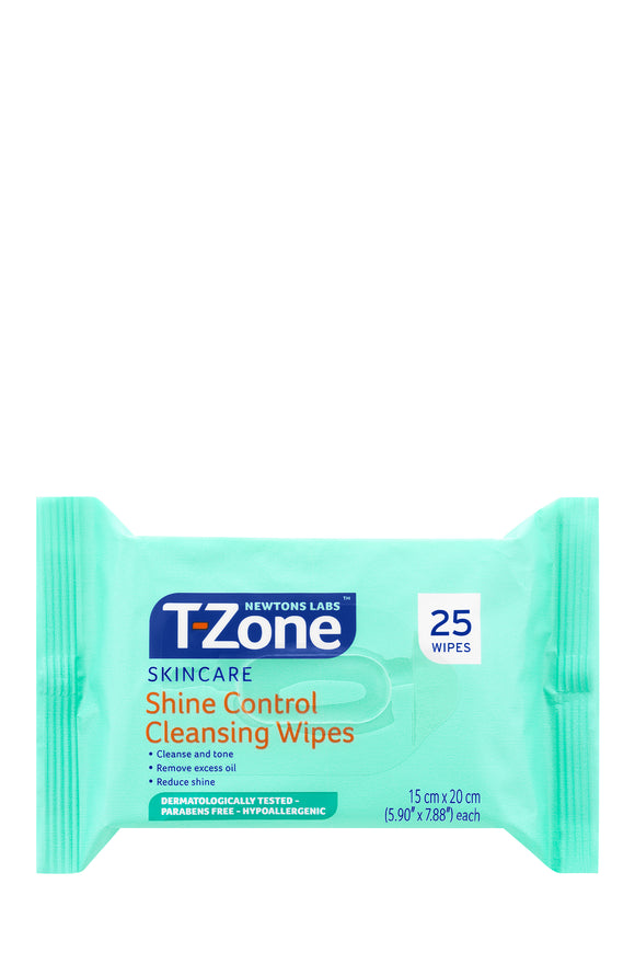 T-Zone Shine Control Cleansing Wipes (25)