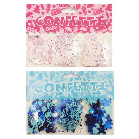 1 set Its A Boy/Its A Girl Confetti-gender reveal-Amy&Rose-Blue-Amy&Rose