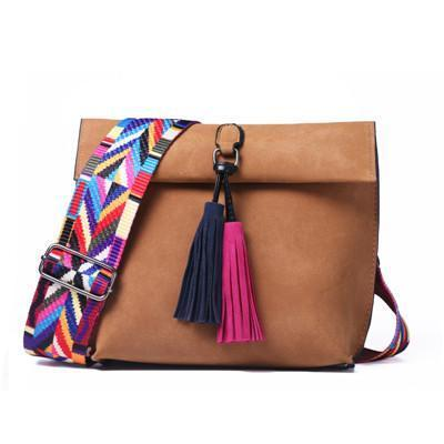 Ariana Crossbody Bag with Tassel-Amy&Rose-Brown-Amy&Rose