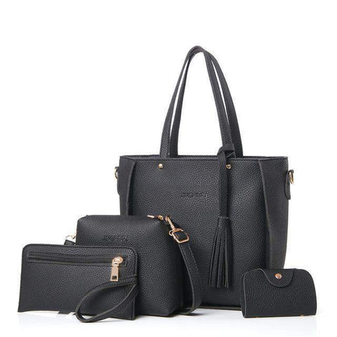 Bella™ Women Bag Set-bag-Amy&Rose-Black-Amy&Rose