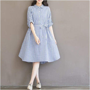 Catherine Fashion Stripes Pregnancy Dress-Amy&Rose-As Photo-S-Amy&Rose