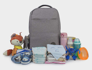 Evan™ Double-Layer Unisex Diaper Bag-backpack-Amy&Rose-Large Grey-Amy&Rose