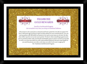 Framboise Fashions offers Rewards Program
