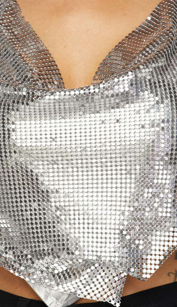 Triangle Draped Chainmail Top