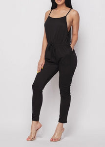 Midnight Camisole Drawstring Jersey Jumpsuit