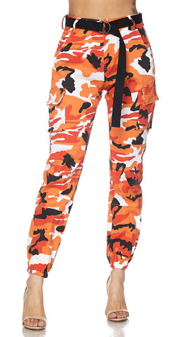 Cargo Camouflage Jogger Pants