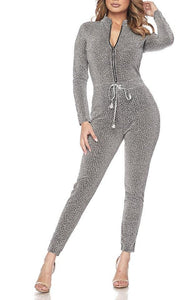 Shimmery Silver Rhinestone Jumpsuit