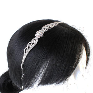 Flower Rhinestone Headband