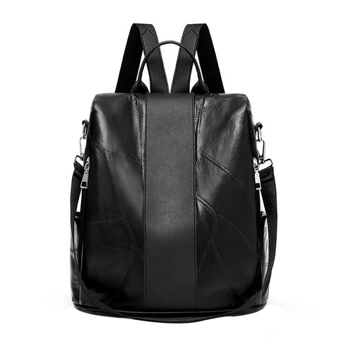 Black Vintage Leather Backpack