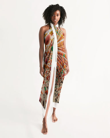 Have yourself an over-the-top Adventure with our white trim multi-colored dress wrap. Here's to feeling chic, sexy, and covered for all occasions.    Whether you're hosting a meeting online, going out for a meal at your favorite restaurant, hitting the beach/pool, or want to look sexy lounging at home, our Adventure is a must-have.   Its lightweight and flowy feel is the perfect accessory for your attire; you can style in multiple ways. Add a skirt, mini dress, or leggings to accentuate your outfit.