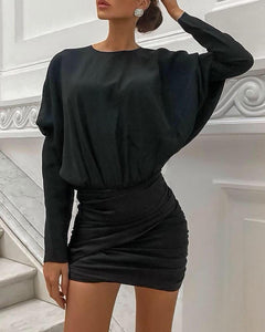 Batwinged Mini Dress