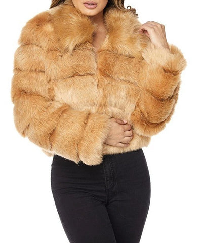 Honor Roll Faux Fur Jacket