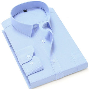 Sky Blue Long Sleeve Dress Shirt