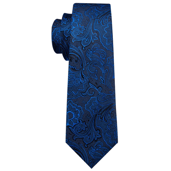 Blue Waves Floral Tie Set