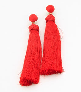 Long Thread Tassel Fringe Earrings