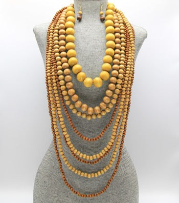 Long & Woody Necklace Set