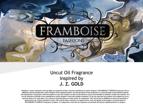 Uncut Oil Fragrance Inspired By~J. Z. GOLD