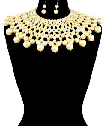 Pearl Bib Statement Necklace