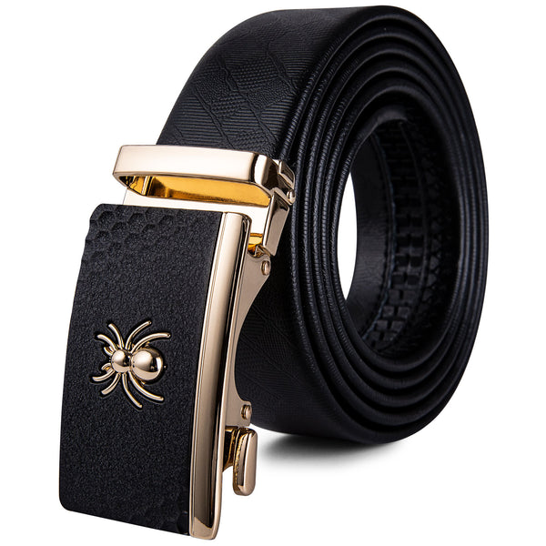 Contemporary Three Buckle Leather Belt Box Set