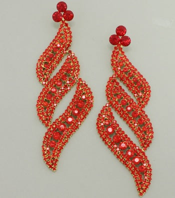 Diva Crystal Statement Earrings