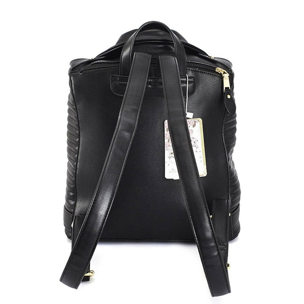 Leather Suit Backpack Shoulder Bag