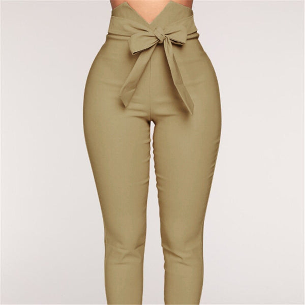 Classic Bowknot Pencil Pants