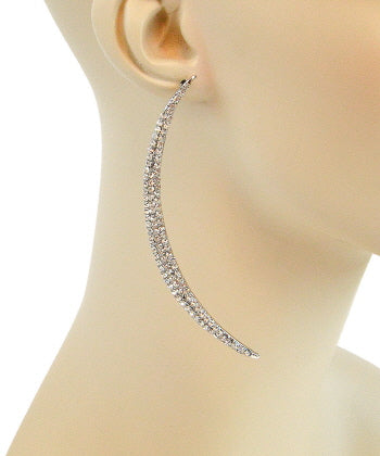Pave Curvy Spike Earrings