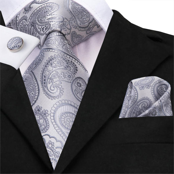 Silver Star Neck Tie Set