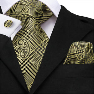 Golden Shield Neck Tie Set