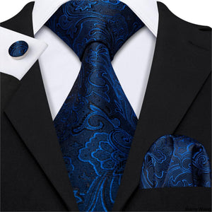 designers-blue-floral-8-5cm-wide-silk-tie-hanky-box-set-gifts-for-men-wedding-groom-business-party-neckties