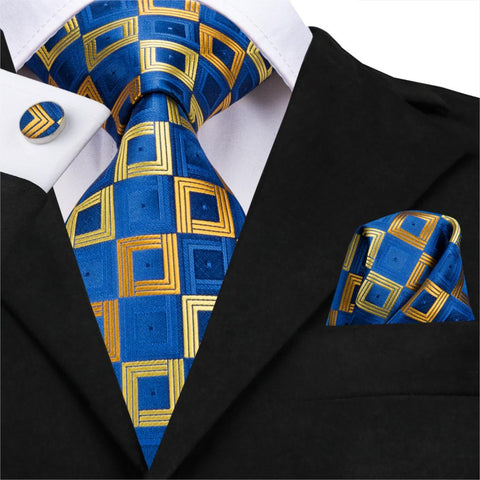 Golden Blocks Neck Tie Set