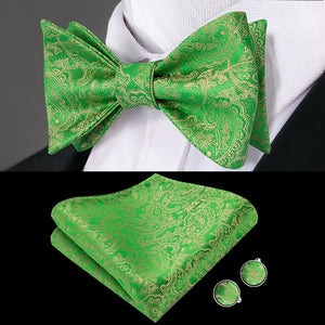 Golden Lava Mens Butterfly Bow Tie Set