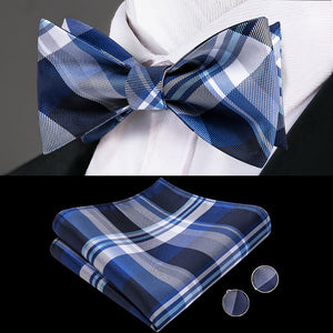 Shades of Blue Butterfly Bow Tie Set
