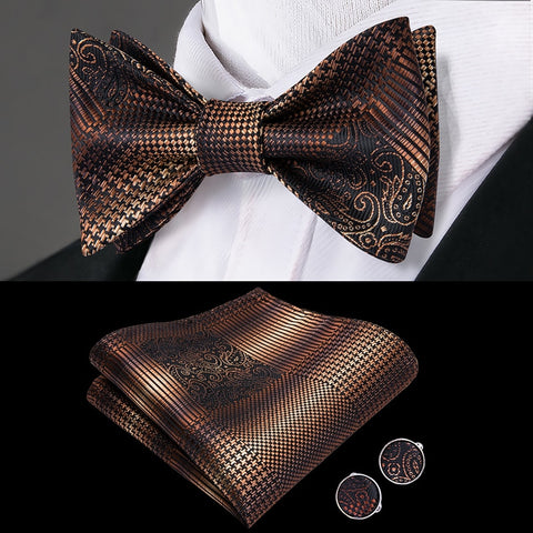 lh-2037-framboise-fashions-luxury-100-silk-woven-men-butterfly-self-bow-tie-new-plaid-cajun-brown-designer-bowtie-handkerchief-hanky-cufflinks-suit-set