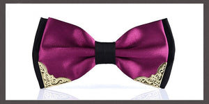 Purple Rain Butterfly Bow Tie