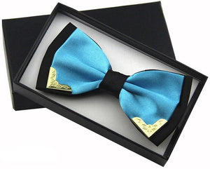 Aviator Blue Luxury Silk Butterfly Bow Tie