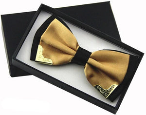 Champagne Butterfly Bow Tie