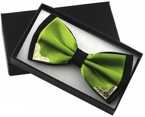 Royal Emerald Butterfly Bow Tie