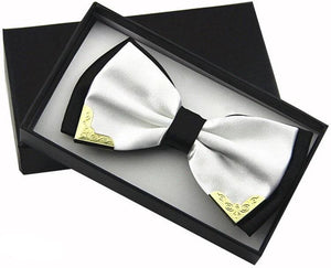 White Winning Butterfly Bow Tie