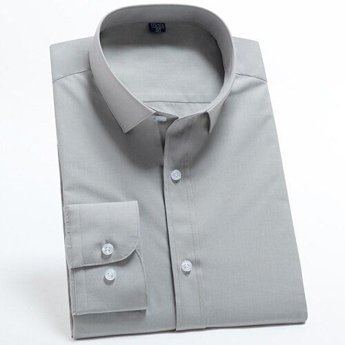 Sky Grey Long Sleeve Dress Shirt