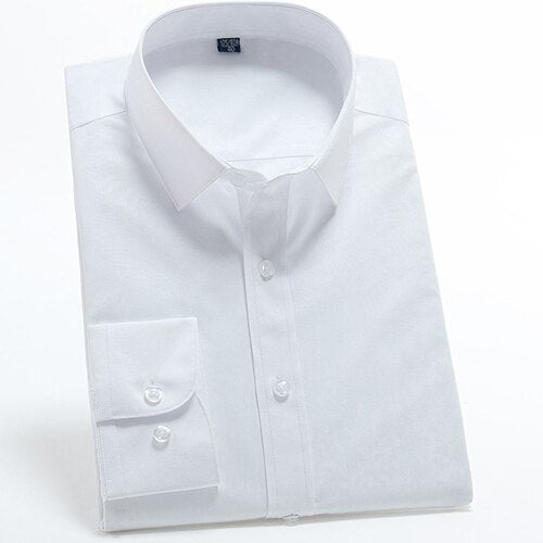 Bright White Long Sleeve Dress Shirt