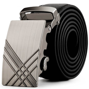 Sliding Buckle Leather Belt
