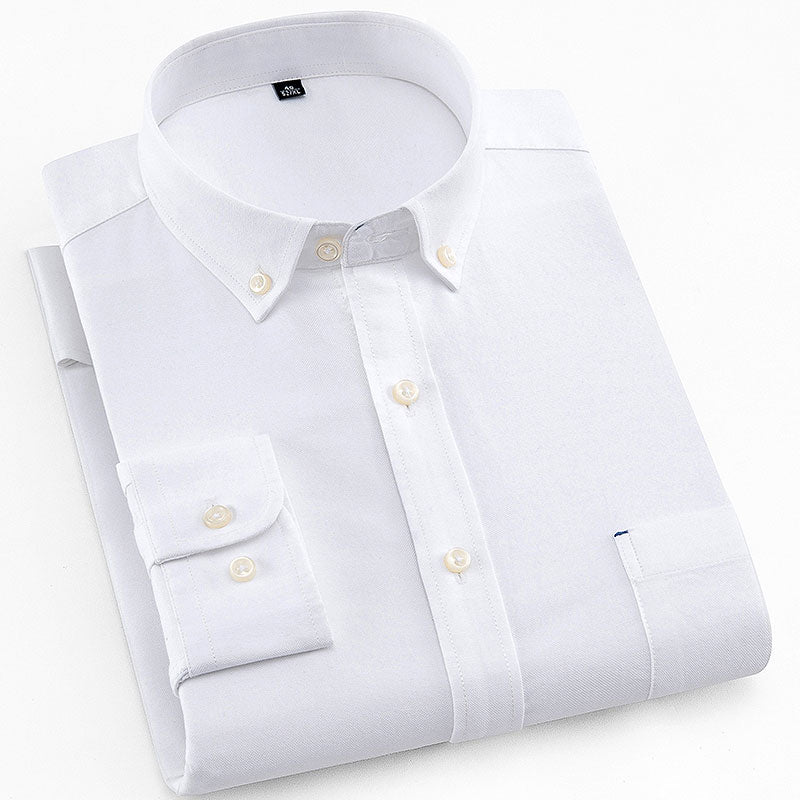 White Oxford Slim Fit Dress Shirt