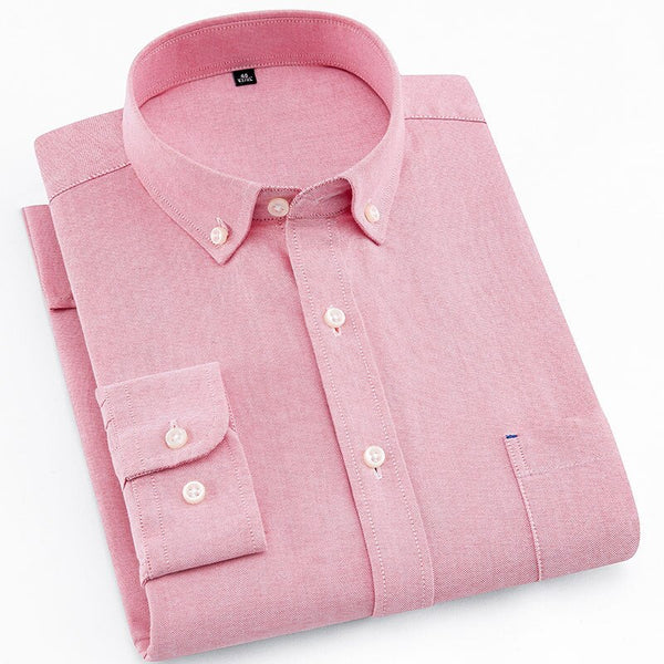 Pink Oxford Slim Fit Dress Shirt