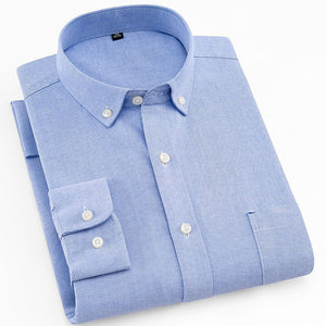 Blue Oxford Slim Fit Dress Shirt