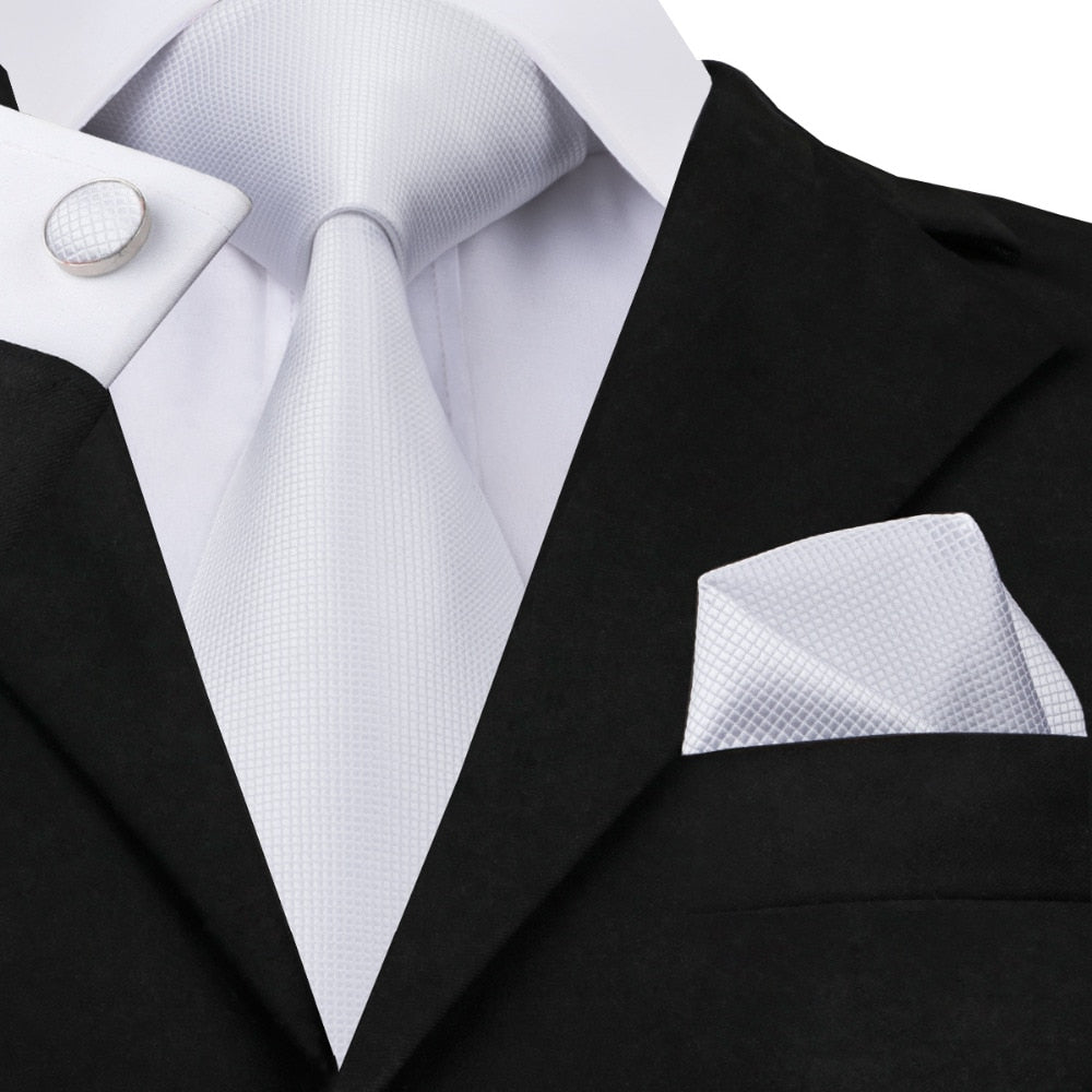 White Ice Neck Tie Set